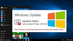 Your device is missing important security and quality fixes | How to fix Windows 10 update errors