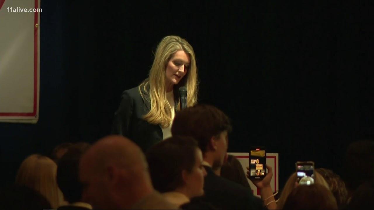 Watch: Republican Sen. Kelly Loeffler speaks to supporters on election night