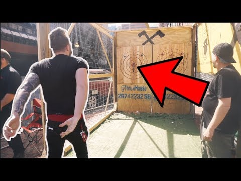 Axe THROWING Gone BAD!