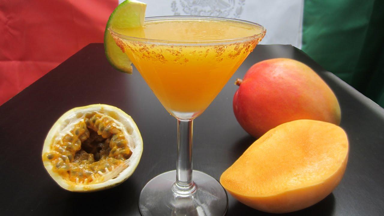 Margarita maracuya y mango receta 5 de mayo mexico for Preparacion de margaritas