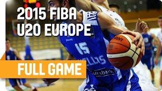 Slovenia v Greece - Group H - Live Stream - U20 European Championship Men