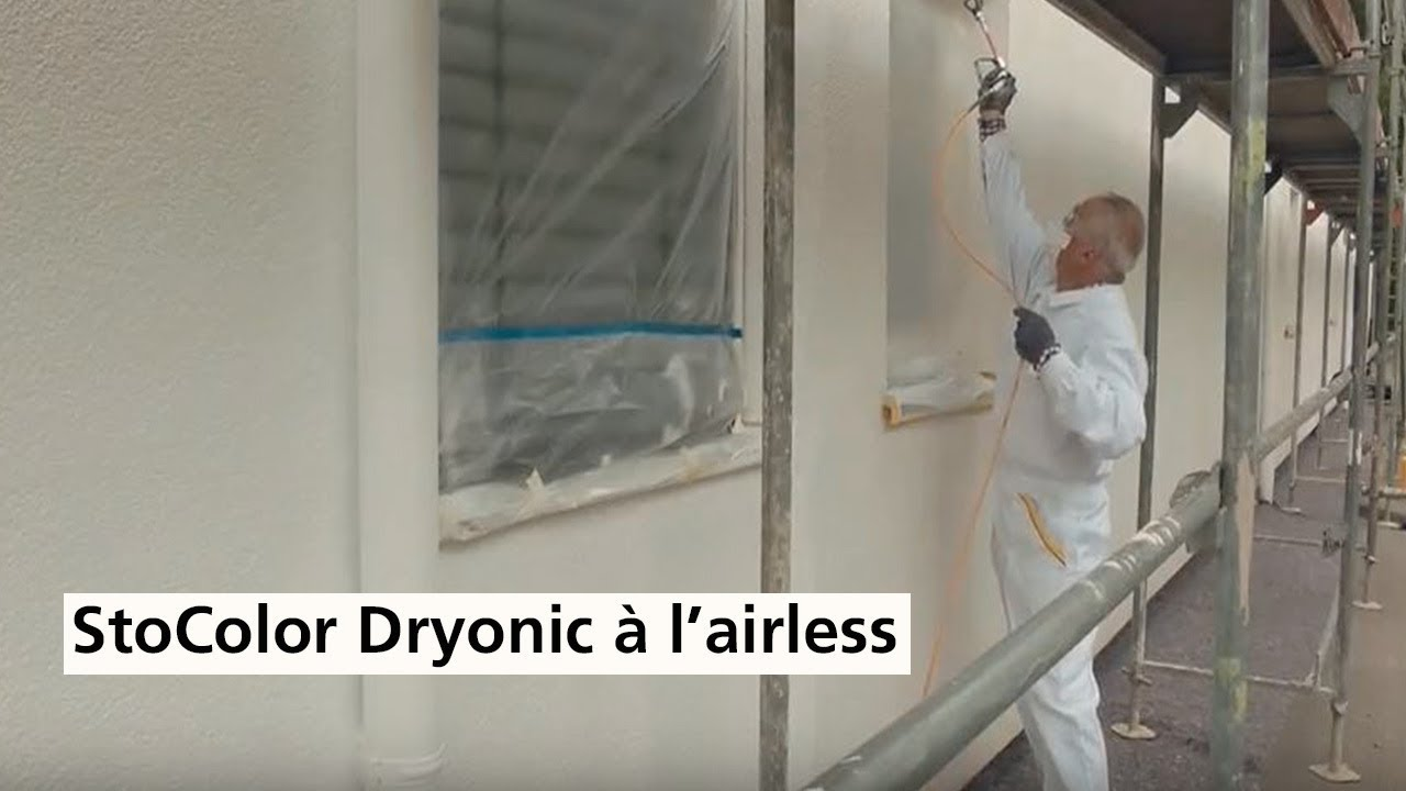 Application à L Airless De Peinture De Façade Stocolor Dryonic