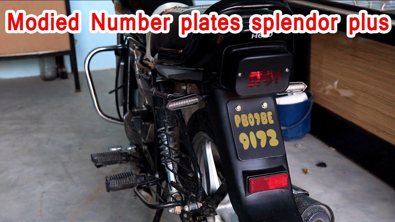 Splendor Plus Modified Number Plate Youtube