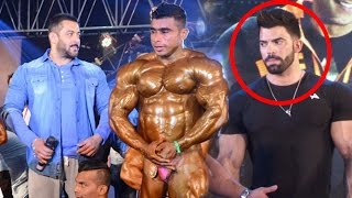 Salman Khan & Sergi Constance At Bodybuidling Competetion