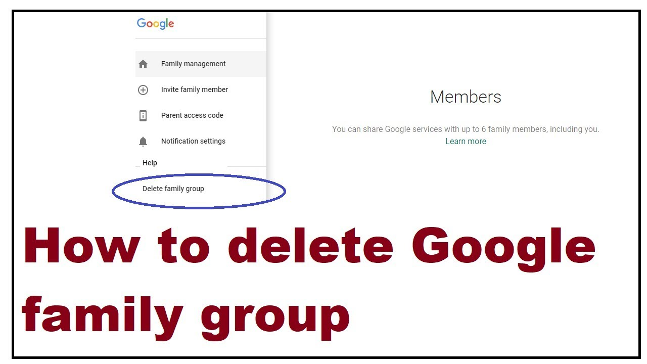 Delete Google Family Group Account Youtube