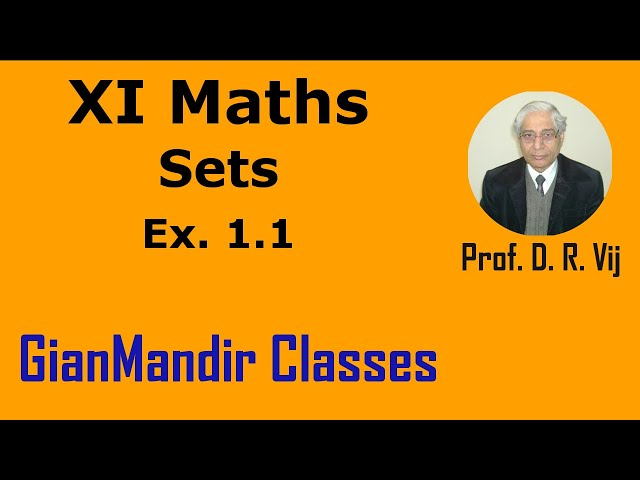XI Maths | Sets | Ex. 1.1 by Divya Ma'am