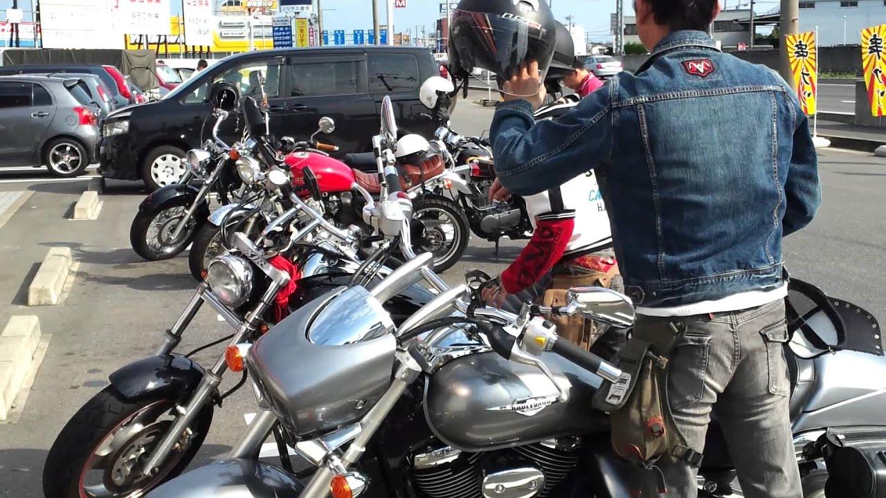 バイク7台夏のツーリング