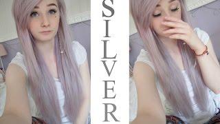 Silver / Lilac Haare selber färben - Clip in Extensions einsetzen - Extensions Review Donalovehair ♥