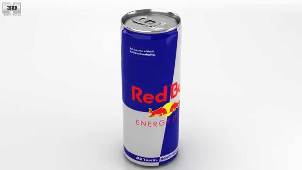 red bull can by 3d model store humster3dcom youtube