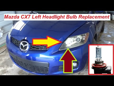 Mazda Cx7 Left Headlight Bulb Replacement Cx 7 Light Driver Side