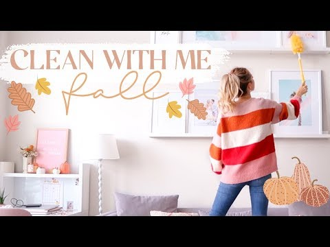 FALL CLEAN WITH ME | Create a cozy + clean space! ✨🍂