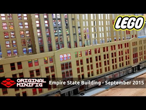 HUGE LEGO Empire State Building - Skyscraper Construction Project - September 2015 Update