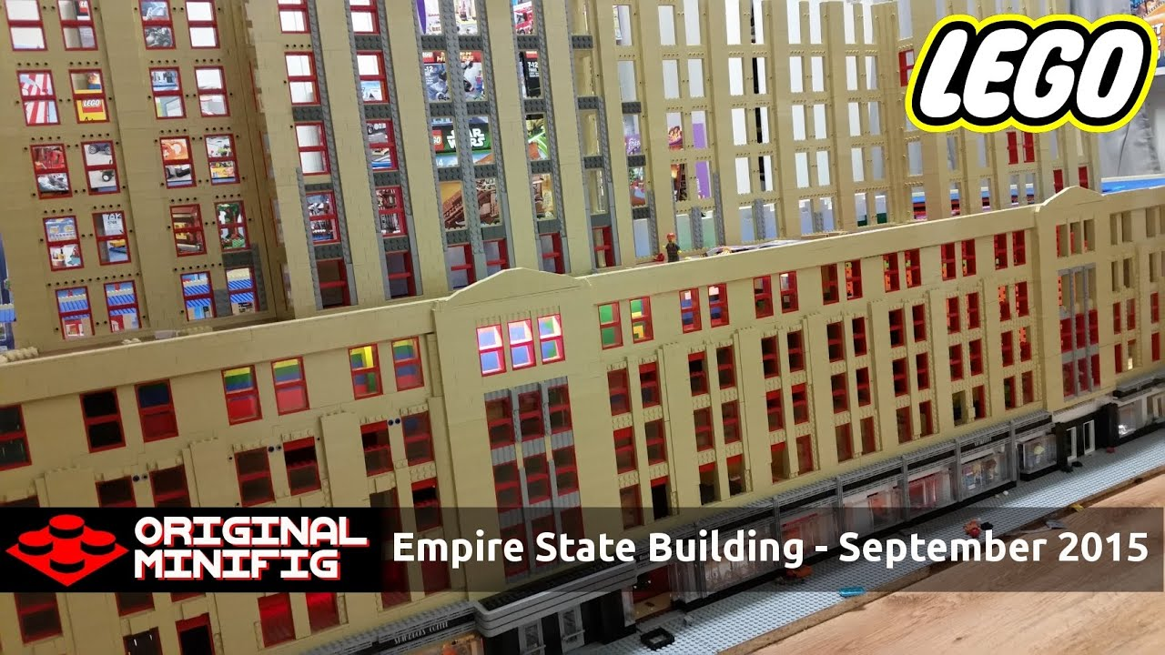 empire state building interior. huge lego empire state building skyscraper construction project september 2015 update youtube interior