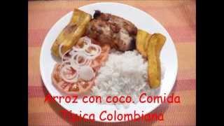 Arroz con coco Comida Típica Colombiana