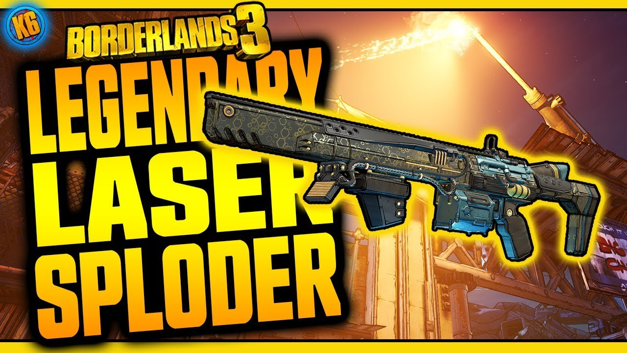 Borderlands 3 | LASER SPLODER | Legendary Weapon Review thumbnail
