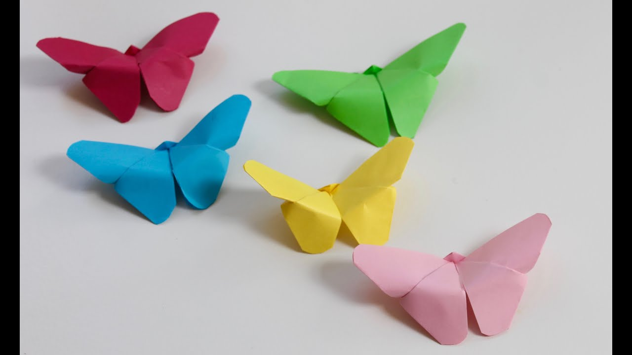 Easy craft: How to make paper butterflies - YouTube