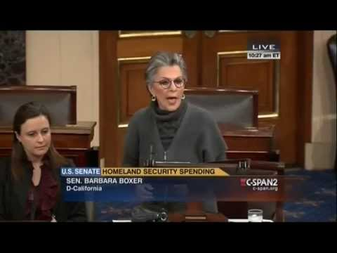 Sen. Barbara Boxer challenges Republicans to give up their pay