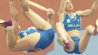 Great 6 pack female pole vaulter, Nikoleta Kyriakopoulou 2015