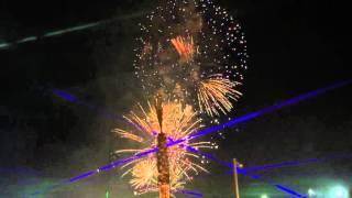 Vuurwerkshow Dubai Marina, The Walk (03-12-2015)