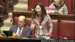 Intervento di Giusy Occhionero a Montecitorio