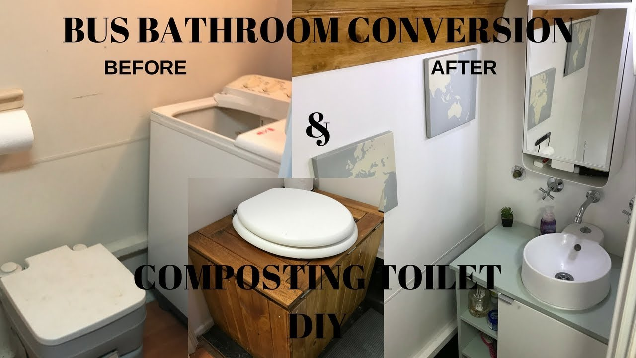 Bus Bathroom Conversion & DIY Composting Toilet Video Bus Life ...