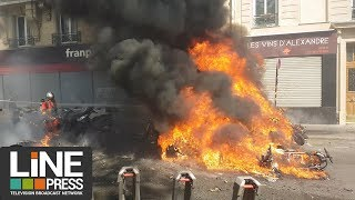 Gilets jaunes Acte 23 - Paris sous très haute tension / Paris - France 20 avril 2019