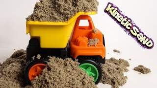 Dump Truck Kinetic Sand Cement Concrete Mixer Truck Wheel Loader Toys Playing Squishy Moon Sand