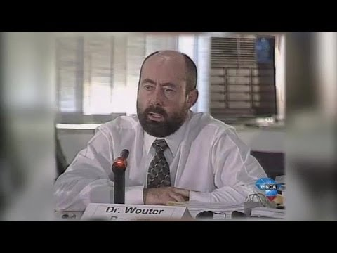 Basson on trial at the Truth and Reconciliation Commission