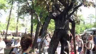 Tree Guy -- a stilt walker takes over