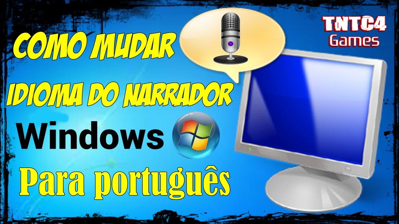 narrador do windows em portugues