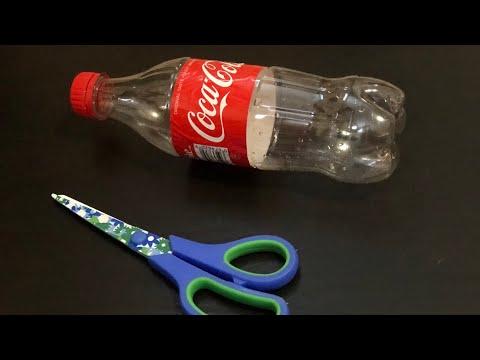 Plastic bottle craft idea - easy craft using plastic bottle and jute rope : plastic bottle recycle