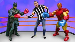 Бэтмен и Железный Человек - Самый крутой Супергерой! - Смешное видео шоу Фабрика Героев.