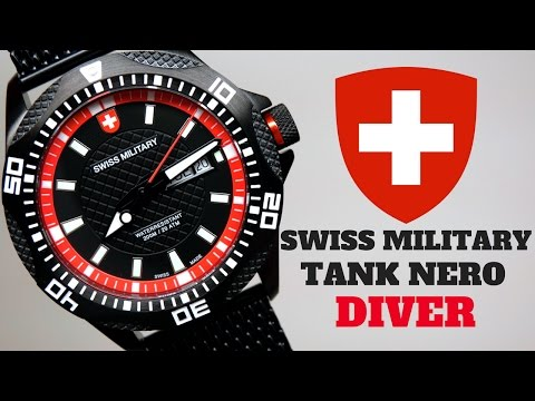 (4K) SWISS MILITARY TANK NERO DIVER Men's Watch Review Model: 2741