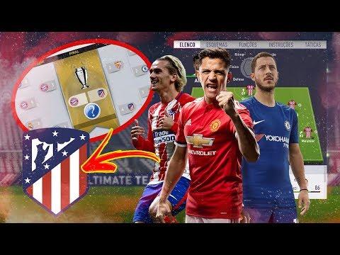 RECONSTRUINDO O ATLÉTICO DE MADRID NO MODO CARREIRA!!   FIFA 18