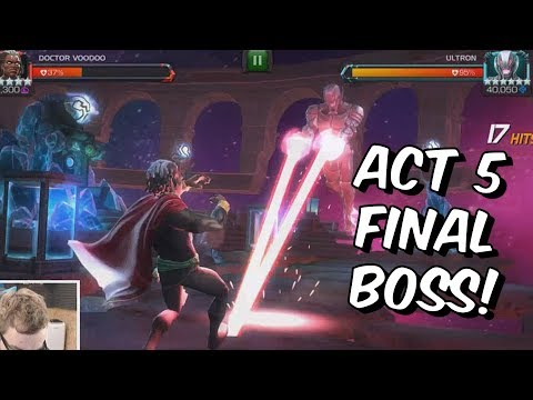 Act 5 Chapter 4 Final Boss - Insane OG Ultron - Marvel Contest Of Champions