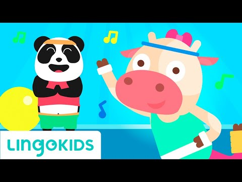 Body parts name in english - Listen and repeat - Songs for kids