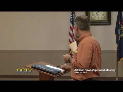 Addison Township Board Meeting 6-19-17