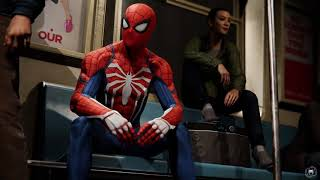 Spider-Man Riding on the Subway