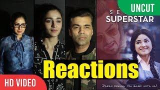 Secret Superstar Special Screening | Sanjay Dutt, Alia Bhatt, Sri Devi | Reactions And Review