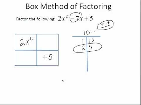 Box Method Of Factoring When A Is Greater Than 1