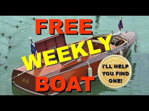 FREE BOAT WEEKLY: Your Weekly Source For Free Boats