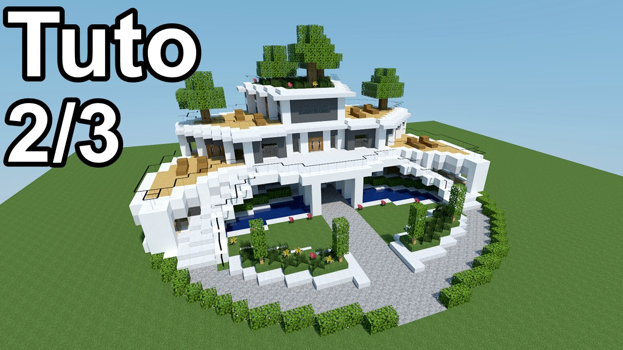 Minecraft tutoriel - Maison moderne ! 2/3 - YouTube