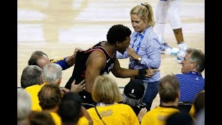 Warriors Part-Owner Shoves Kyle Lowry During Game 3