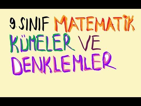 9.SINIF MATEMATİK KÜMELER DERS-1 (2016-2017)