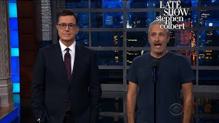 Download Jon Stewart Grants Trump's Request For Equal Time On Late-Night Mp3 and Videos