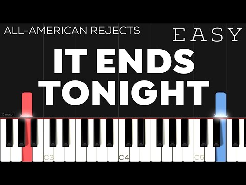 The All-American Rejects - It Ends Tonight | EASY Piano Tutorial