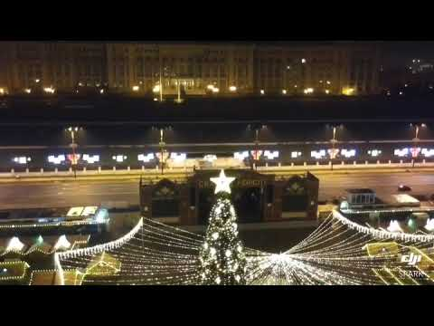 Christmas Market Bucharest - in the night - Piata Constitutiei