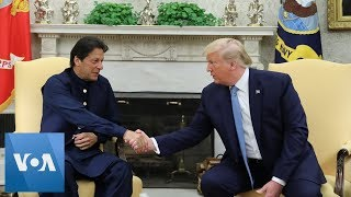 US President Donald Trump and Pakistan's PM Imran Khan Discuss the War in Afghanistan