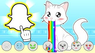BABY PETS 👻📱 Kira Takes Pictures on Snapchat | Children's Cartoons
