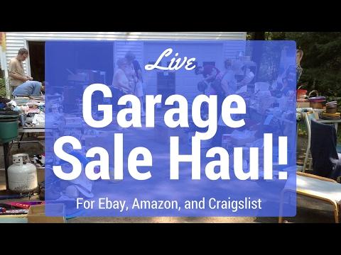 Live Garage Sale Haul - Making More Money on Ebay , Amazon, Craigslist!